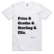Parramatta Eels - All Time 'Price & Grothe & Sterling & Ella' - T-Shirt - AS Colour - - AS Colour - Staple Tee